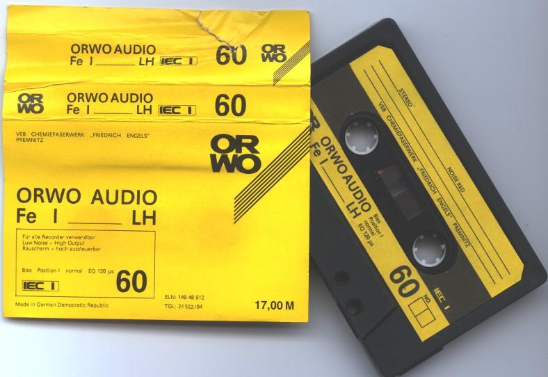 Eine typische DDR-Kassette: C60 fuer 17 Mark!