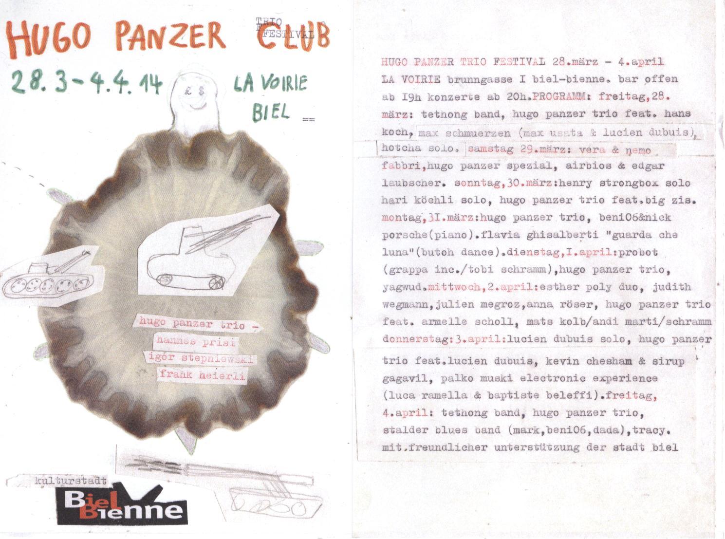 Hugo Panzer Festival - der Flyer