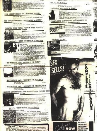 Steven Tetzloff on the Sex Sells catalogue from Calypso Now